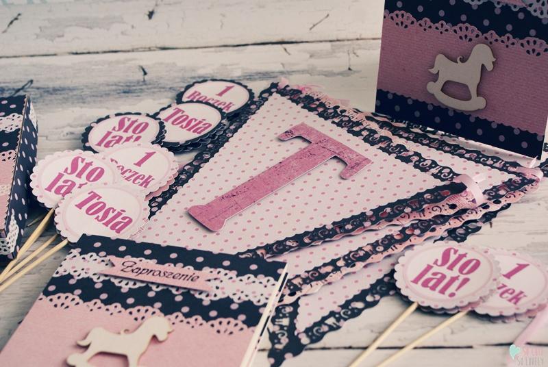 Dekoracje urodzinowe dla dziewczynki – Tosia