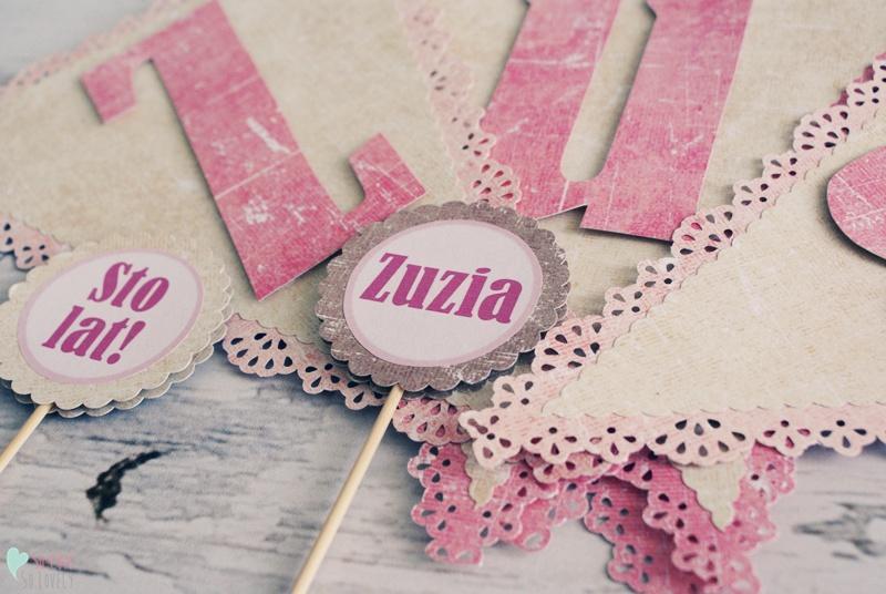 Dekoracje na przyjęcie urodzinowe dla dziewczynki – Zuzia
