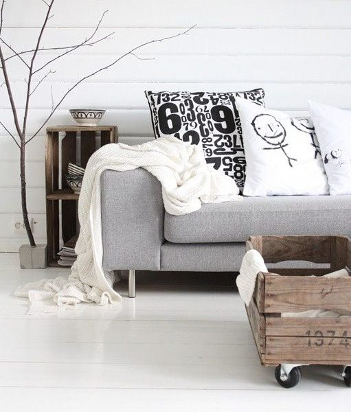 Pokój dzienny w stylu skandynawskim