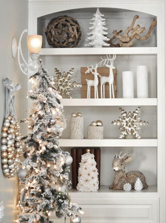Biel i srebro – dekoracje na Boże Narodzenie