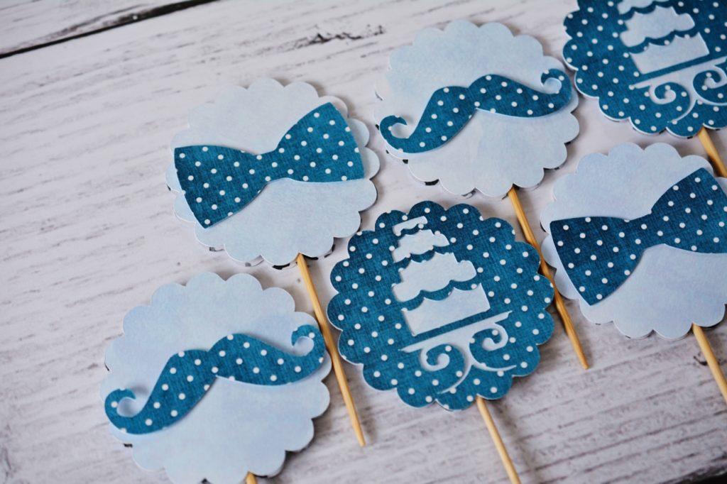 dekoracje do muffin wąsy