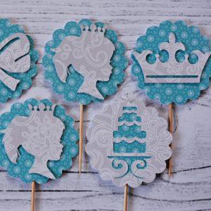 piki do muffin turkus księżniczka