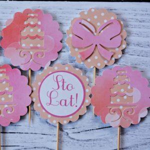 dekoracje do muffin tort