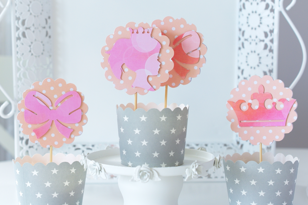 Toppery do muffin Księżniczka róż + brzoskwinia