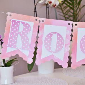 Zestawy różowe, grochy, Minnie, bańki