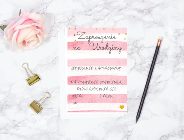 Zaproszenie Na Urodziny Do Druku Blog Party Shop Dekoracje