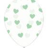 balony turkusowe serduszka transparentne