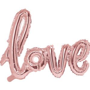 Balon foliowy LOVE rose gold