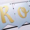 Girlanda Roczek błękitna + złoto