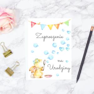 Zaproszenie na Urodziny do druku Zajączek
