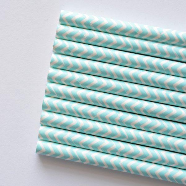 słomki papierowe błękitne
