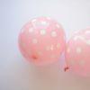 balony pastelowy róż