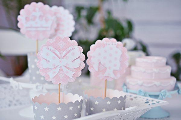dekoracje do muffin księżniczka