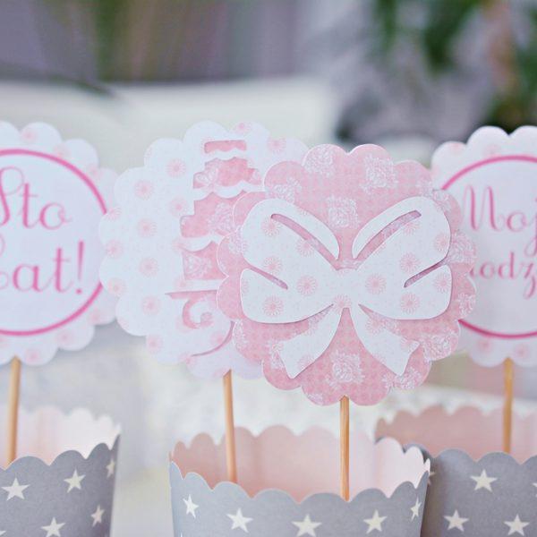 dekoracje urodzinowe do muffin