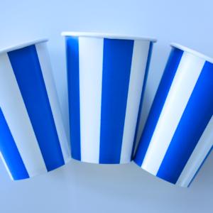 Kubeczki papierowe niebieskie