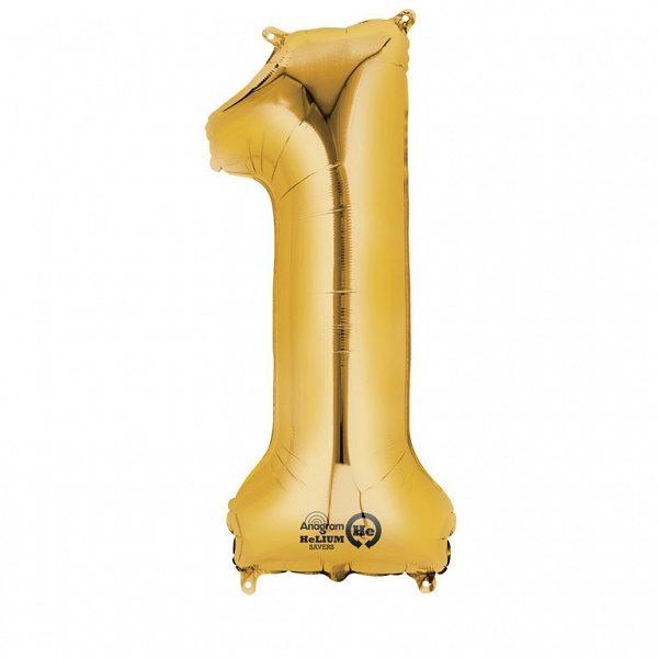 Balon Złoty Cyfra 1
