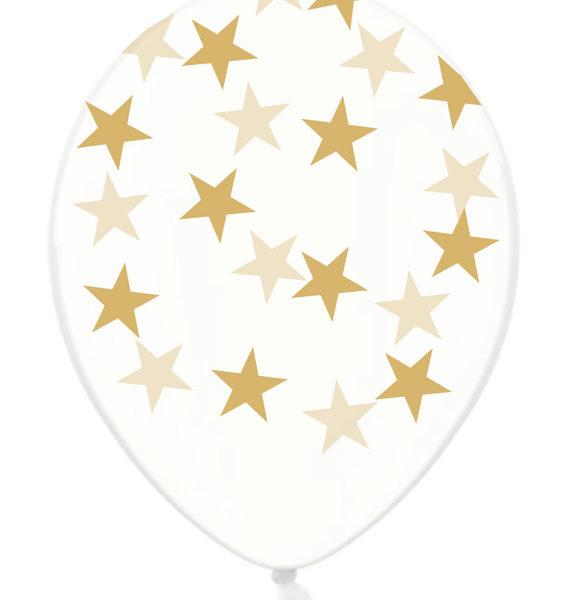 balony złote gwiazdki
