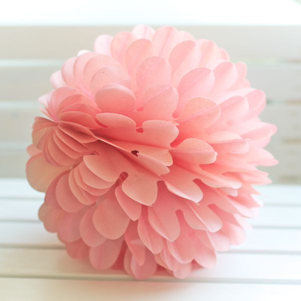 rozeta kwiatowa łososiowa