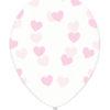 Balony różowe serduszka transparentne