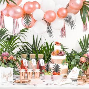 Dekoracje urodzinowe - balony, kubeczki, talerzyki, słomki, rozety