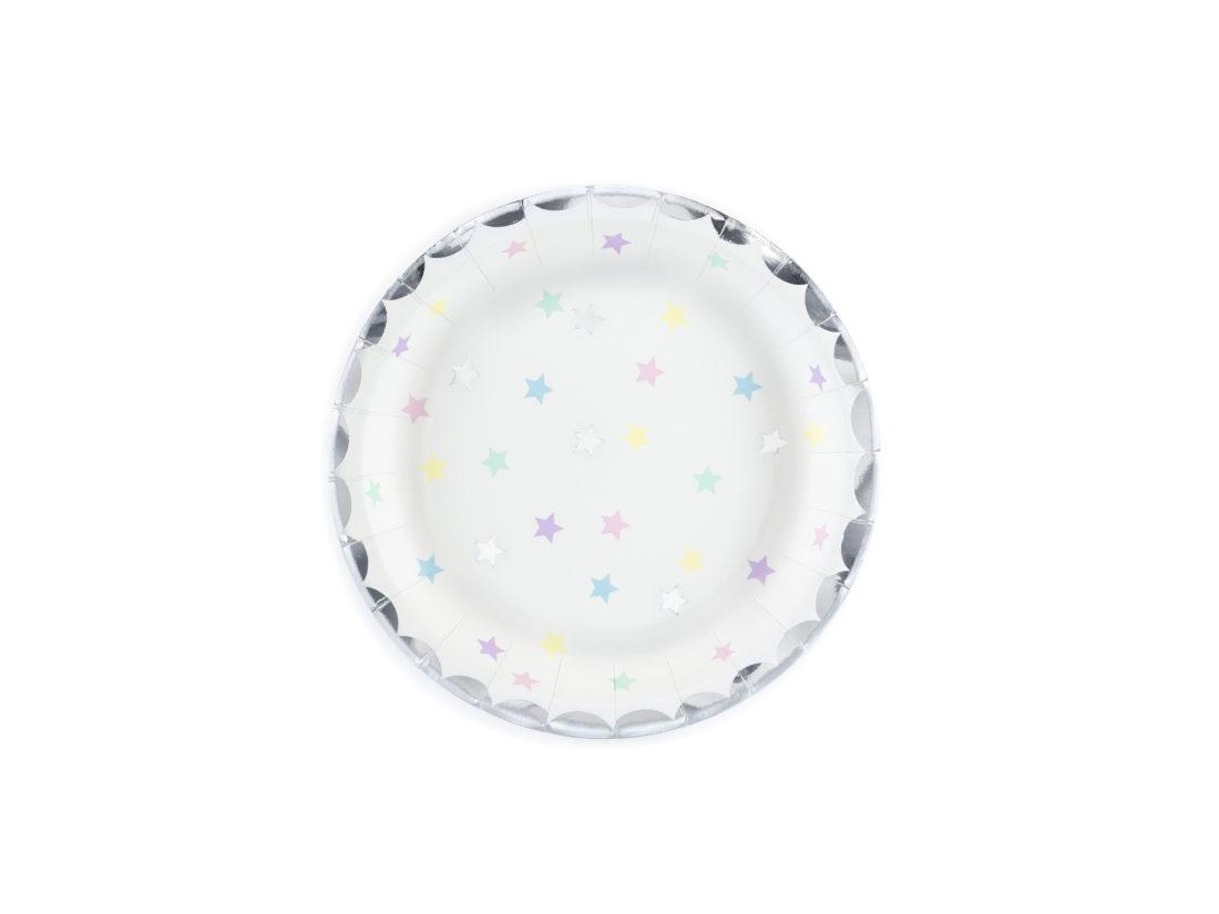 talerzyki jednorożec w gwiazdki
