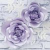 kwiaty z papieru na ścianę