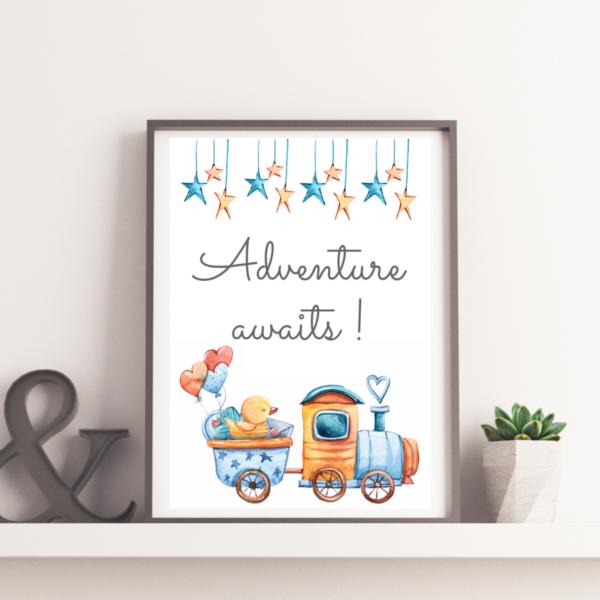 plakat do pokoju dziecka adventure awaits
