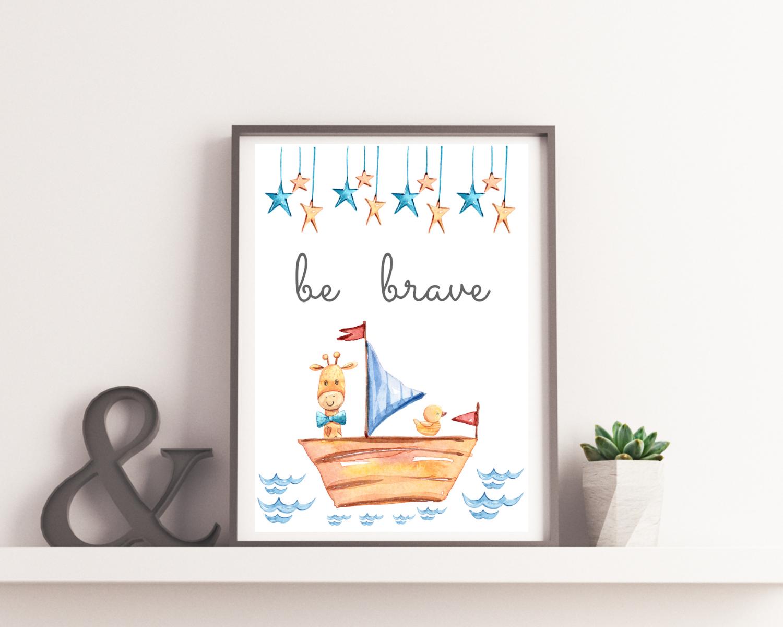 "Plakat do pokoju dziecka ""Be brave"""