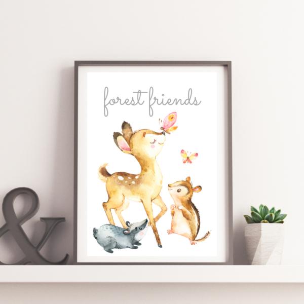 plakat do pokoju dziecka forest friends