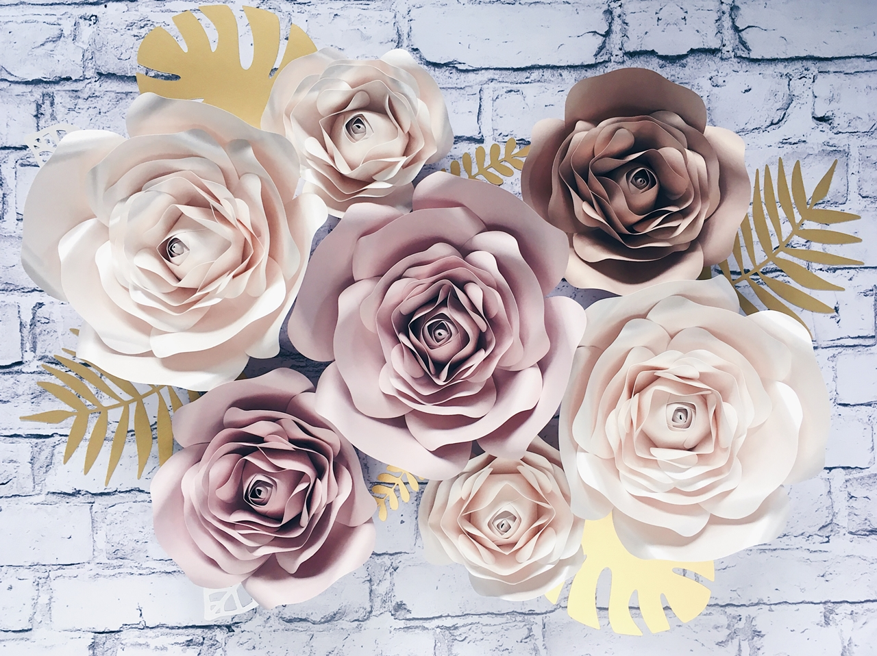 kwiaty z papieru na ścianę 3d