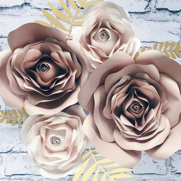 kwiaty z papieru na ścianę 3d nude