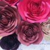 kwiaty z papieru, ścianka z kwiatów