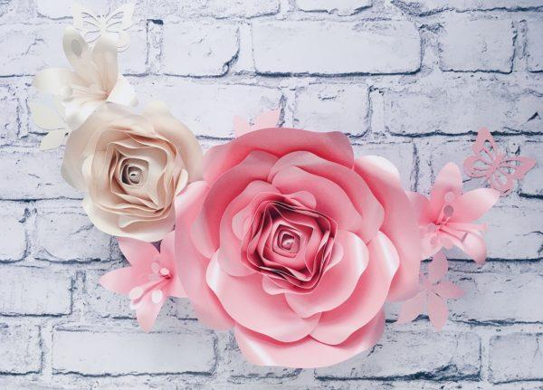 Kwiaty 3d na ścianę - dekoracje do pokoju dziewczynki