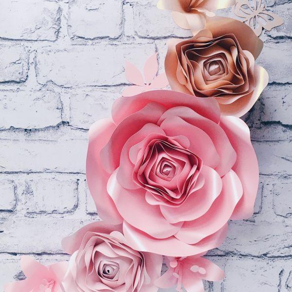 kwiaty na ścianę do pokoiku dziewczynki