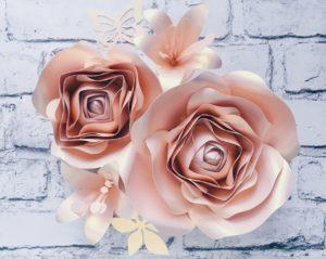 duże kwiaty na ścianę - Róża pustyni