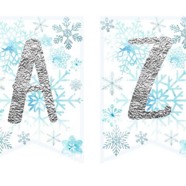 zimowe dekoracje urodzinowe do druku