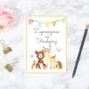 zaproszenie na urodziny leśne zwierzęta