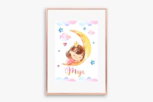 plakat jednorożec do druku z imieniem dziecka