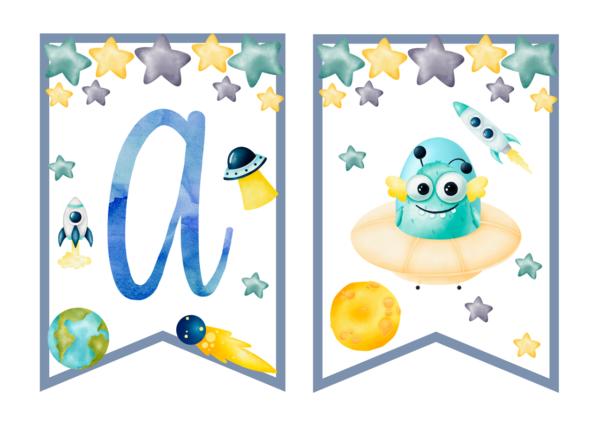 Kosmos dekoracje urodzinowe do druku