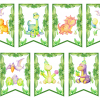 Dinozaury dekoracje urodzinowe do druku