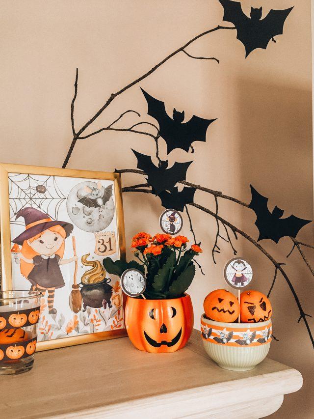dekoracje na halloween do druku