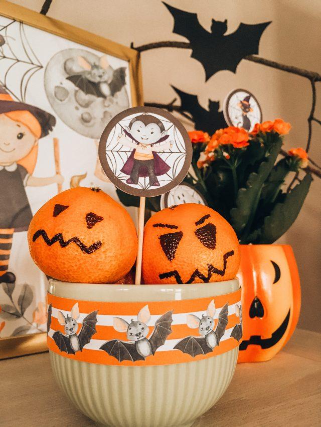 dekoracje na halloween do wydruku