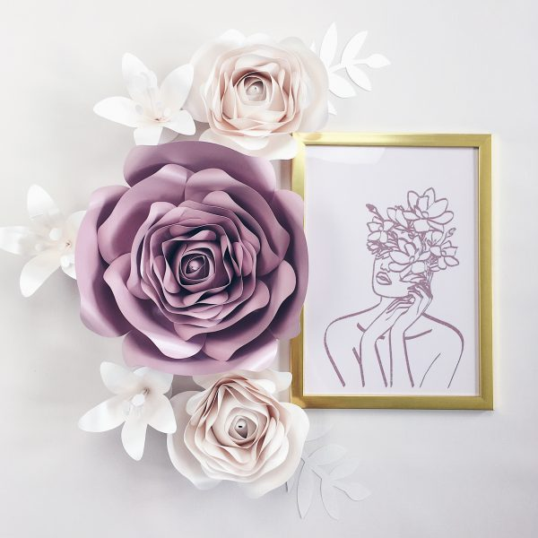 Duże kwiaty dekoracja na ścianę