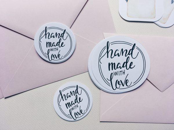 Naklejki handmade with love