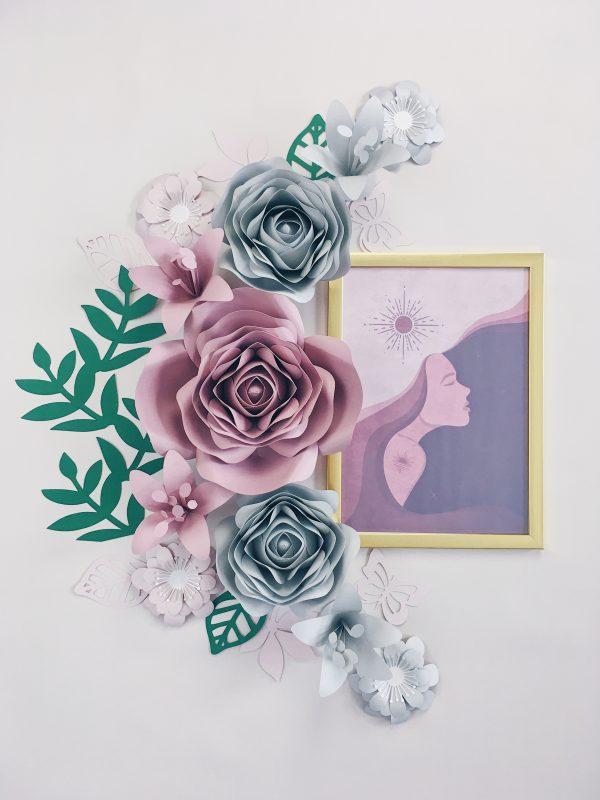 Duże kwiaty - dekoracje na ścianę