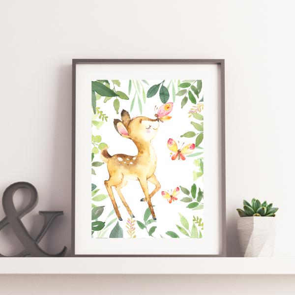 Plakat sarenka do druku - leśne zwierzęta