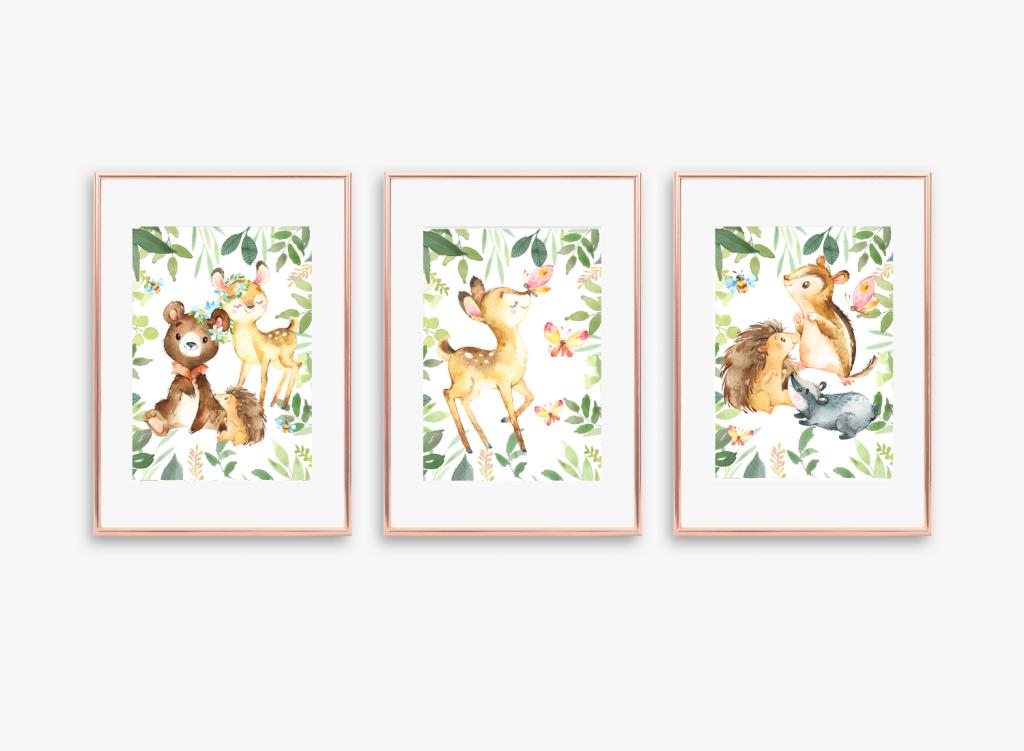 leśne zwierzęta do druku