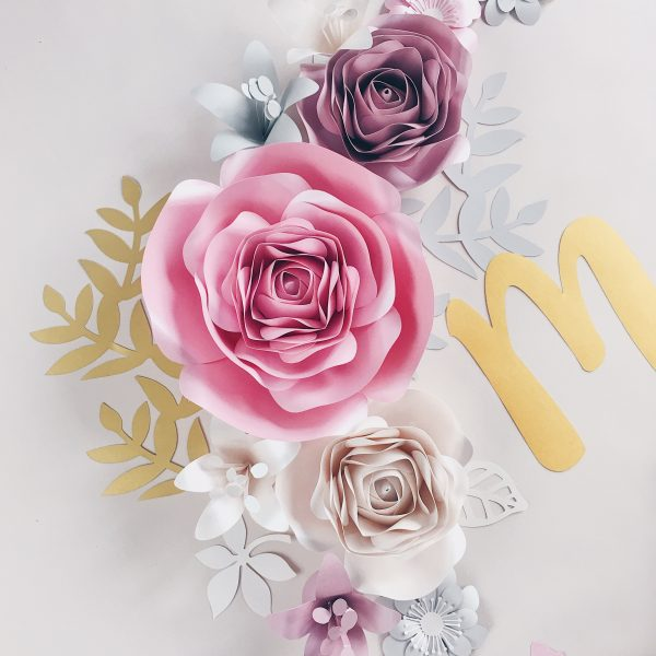 Duże kwiaty 3d dekoracje na ścianę